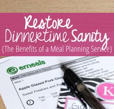 Saving time and money in today's busy world is essential. Would you consider using a meal planning service?