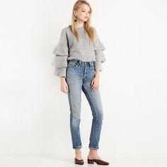 HDY Haoduoyi Solid Gray Fashion Sweatshirt Women Long Sleeve Crew Neck Female Pullover Tops Slim Loose Ruffles Sweatshirts