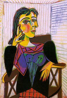 """""""Portrait de Dora Maar 5"""" by Pablo Picasso 1937 #art"""