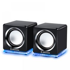 Wired Mini Speakers for Computer Colors) Laptop Speakers, Desktop Speakers, Small Computer, Gaming Accessories, 2 Colours, How To Introduce Yourself, Wire, Led, Stuff To Buy