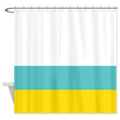 Custom Color Block Shower Curtain   You can customize this with any of the colors in our palette. If you would like colors, other than those
