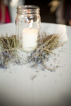 candles and lavender