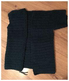 Vest haken zonder patroon – Crearies Kerchief, Crochet Cardigan, Crochet Clothes, Rompers, Knitting, Sweaters, Cardigans, Shawls, Knits