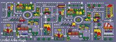 $39.99 3x7-Runner-Rug-Play-Road-Driving-Time-Street-Car-Kids-City-Map-Fun-Time-25-x66