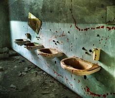 Don't forget to wash your hands...abandoned hospital near Milano