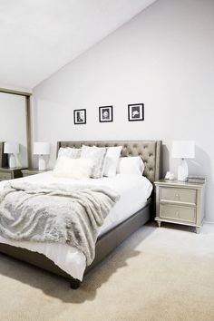 Get inspired by Traditional Bedroom Design photo by Room Ideas. Wayfair lets you find the designer products in the photo and get ideas from thousands of other Traditional Bedroom Design photos. Relaxing Bedroom Colors, Best Bedroom Paint Colors, Best Paint Colors, Paint Colors For Home, Teen Room Colors, Bedroom Door Handles, Bedroom Wall Designs, Luxury Bedroom Design, White Bedroom Furniture