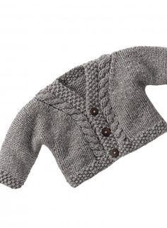 Baby Knitting Pattern veste bonnet chaussons moufles 12//22 en 4 plis