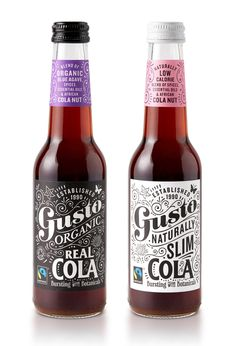 Gusto Organic Colas on Packaging of the World - Creative Package Design Gallery