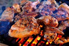 Ingredients of Easy Chicken Barbeque Recipes: 1 kg of non broiler chicken, cut into 8 pieces Seasoning, mix well: 2 tsp grated garlic 2 tsp grated onion 1 Bbq Fried Chicken Recipe, Best Bbq Chicken, Lime Chicken, Grilled Chicken, Chicken Recipes, Mexican Chicken, Smoked Chicken, Lamb Recipes, Crispy Chicken