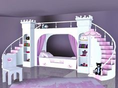 ASHTON: This is any girl's dream bed! Now your sims little princess can rule in … ASHTON: This is any girl's dream bed! Now your sims little princess can rule in her own palace and conquer the monsters under her… Continue Reading → Sims 4 Bedroom, Bedroom Sets, Sims 4 Cc Furniture, Bed Furniture, Toddler Furniture, Funky Furniture, Sims 4 Mods, The Sims 4 Bebes, Around The Sims 4