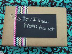 Faux Chalkboard tags!  Love it!