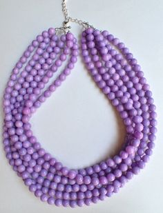 The Michelle Lavender Jade Statement by danaleblancdesigns on Etsy