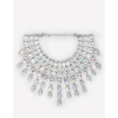 Crystal Choker Necklace ($69) ❤ liked on Polyvore featuring jewelry, necklaces, bebe jewelry, crystal stone necklace, tear drop necklace, fringe necklace and iridescent jewelry