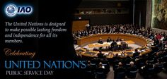 International Accreditation Organization pays tribute to the United Nations for their efforts to maintain peace in the world.