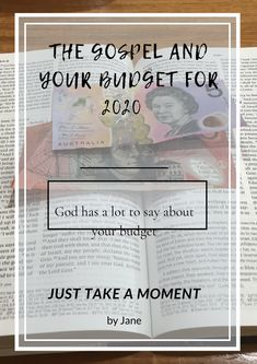 How can the gospel help you with your budget for the new year?