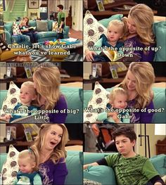 Good Luck Charlie. This show is so funny!! He's the trouble maker! What does he expect?
