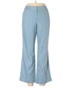 Ann Taylor LOFT Dress Pants: Size 4.00 Light Blue Women's Bottoms - $15.99