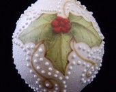 Holly Porcelain Ornament Unique Collectible 2011 Ceramic