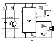 Motion Detector IR reflection alarm circuit