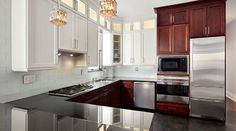 TWO TONED CABINETS/ Brooklyn Renovation Project contemporary kitchen