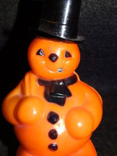 Vintage 1950's Halloween Snowman Candy Container by exploremag, $39.00