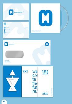 #stationarysystem This is a stationary system by CREATIVEHYPE and I think its nice because of the color usage. Blue on white stands out due to contrast, and the wordmark is nice to give a certain identity. They show this by making the logo artwork in a different opacity on the letters, etc.