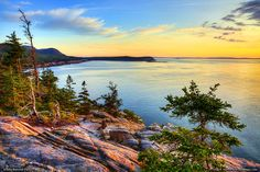 A view of The Beehive from Otter Cliff in Acadia National Park
