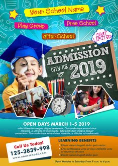 Buy Junior School Admission Flyer by adimasen on GraphicRiver. Junior School Admission Flyer Template Specification RGB and CMYK Color Mode 300 DPI Resolution Size With B. Brochure Design, Flyer Design, Bilboard Design, School Template, Flyer Template, Marketing, School Advertising, School Brochure, Pamphlet Design