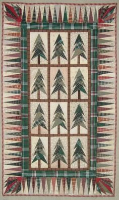 Jeweled Forest Pattern done in red and green plaids by Toolgranny | Photobucket.  Pattern by Renee Peterson for McCalls Quilting. https://www.quiltandsewshop.com/product/jeweled-forest-mccalls-digital-quilt-pattern/