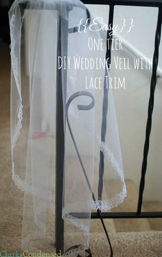 easy-wedding-veil-lace-trimWedding veils are expensive to buy but are actually inexpensive and easy to make. Here is a simple DIY Wedding veil tutorial (single tier with lace trim)