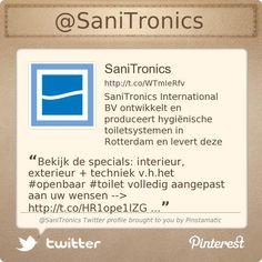 Bekijk de specials: interieur, exterieur + techniek v.h.het #openbaar #toilet volledig aangepast aan uw wensen --> http://www.sanitronics.eu/producten/specials.html … …