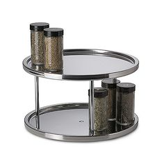 Heavy-duty stainless steel turntable is great for organizing spices and condiments in your kitchen, and can be placed on your counter, in your cupboards or even in the refrigerator.