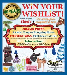 Chicksaddlery sweepstakes and giveaways