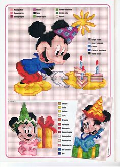 Bebê Minnie e Mickey bebê