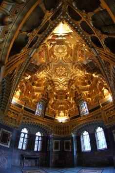 Interior of Cardiff Castle, Wales