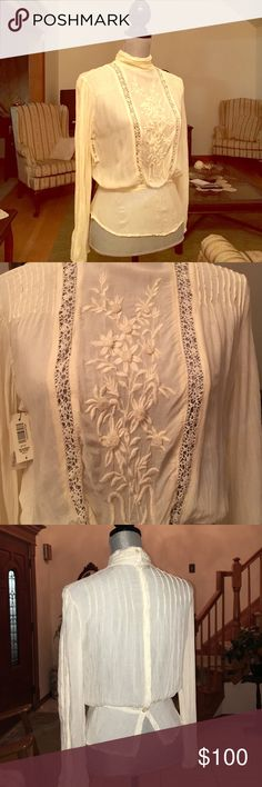 Aritzia Vintage blouse Wilfred beaubien blouse. Brand new with tags. Comes with original box Aritzia Tops Blouses