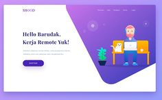 Colorful landing page by also nice illustration amirite? Tag in your UI designs or use if you want us to feature your work! Design Websites, Login Design, Wireframe Design, Page Design, Interface Design, Webdesign Portfolio, Portfolio Web Design, Portfolio Website, App Design Inspiration