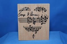 Music Note Heart Hand Made in USA Inkadinkado Wood & Foam Backed Rubber Stamp            http://autopartspuller.com/ Great Sale 50% off entire store!! Copper, Glassware, Wood Crafts, Scrap Booking   Also Find us on:  http://hometownvintage.com http://autopartspuller.com @HomeTownVintage @autopartspuller @preppershowto http://facebook.com/hometownvtg http://facebook.com/AutoPartsPuller