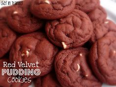 Red Velvet Pudding Cookies - made these for my cookie exchange and they were a big hit!  So yummy and easy to make!