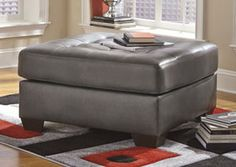 Shop for Alliston DuraBlend Gray Oversized Accent Ottoman starting at at our furniture store located at 560 Exterior St. Formal Living Rooms, Living Room Modern, Oversized Ottoman, Basement Furniture, Signature Design, Transitional Style, Upholstery, Contemporary, Gray