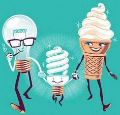 How the mini fluorescent light bulb was born.