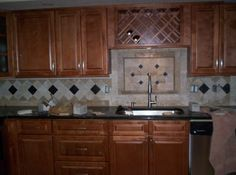 Kitchen Backsplash Focal Point the even's family created this kitchen back-splash focal point