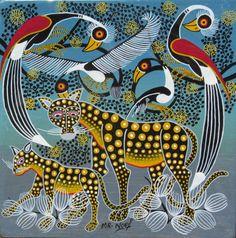 Duo of Cheetahs, by Noel Kapanda (Tingatinga Art).