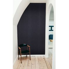 Akupanel - Black The most minimalistic Akupanel ever. We've got more photos on our website. Mineral Wool, Sustainable Forestry, Sound Absorbing, Slat Wall, Acoustic Panels, Recycle Plastic Bottles, Clever Design, New Builds, Something Beautiful