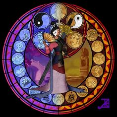 Maine-based artist Akili-Amethyst has recreated several Disney characters as stained glass windows.