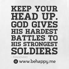 So true. Instead of people praying for their problems to end they should pray for the strength to deal with their problems. God gave you your life because you are strong enough to handle it.