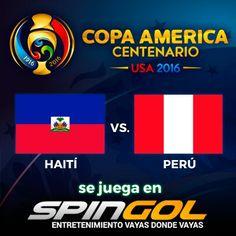 En minutos se viene #Haiti va #Peru por la #CopaAmerica en spingol.com deportes Live.