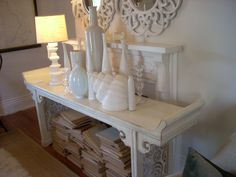 """Double Happiness Alter Table in white by Red Egg Furniture. Dimensions: 60"""" w x 33""""h x 18"""" d Available in multiple colors."""