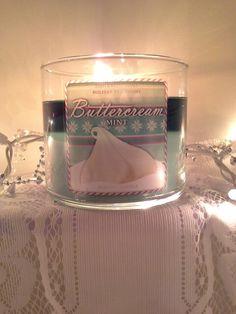 Bath & Bodyworks Buttercream Mint candle #bath&bodyworks #candle