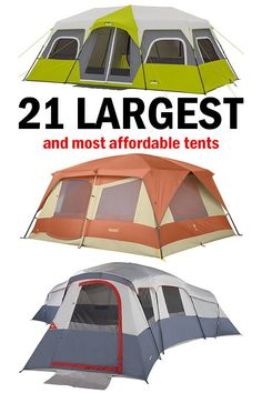 These 21 large camping tents will be perfect for your next camping trip. Save money on your next family c These 21 large camping tents will be perfect for your next camping trip. Save money on your next family camping tent with this list. Best Family Camping Tents, Camping With Kids, Go Camping, Outdoor Camping, Camping Packing, Camping Stuff, Packing Lists, Adirondack Camping, Arkansas Camping